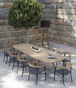 Royal Botania table Zidiz a rallonge et chaises Jive
