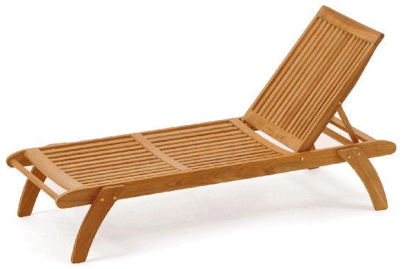 chaise longue classique / en bois / d'intérieur / de jardin - jana ... - Chaise Longue Jardin Bois