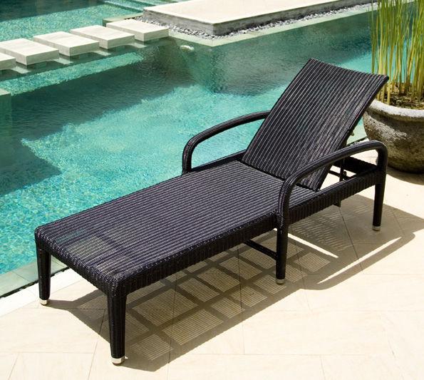 chaise longue contemporaine / en résine tressée / d'intérieur / de ... - Chaise Longue Resine Tressee