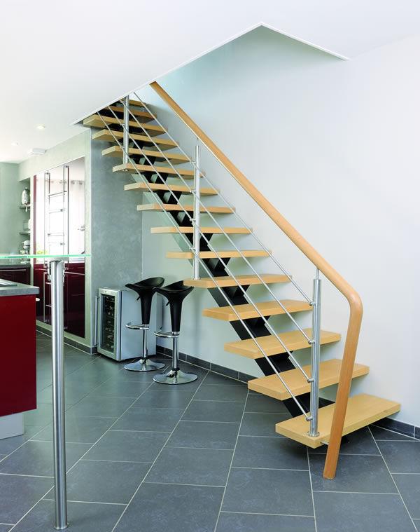 escalier quart tournant riaux