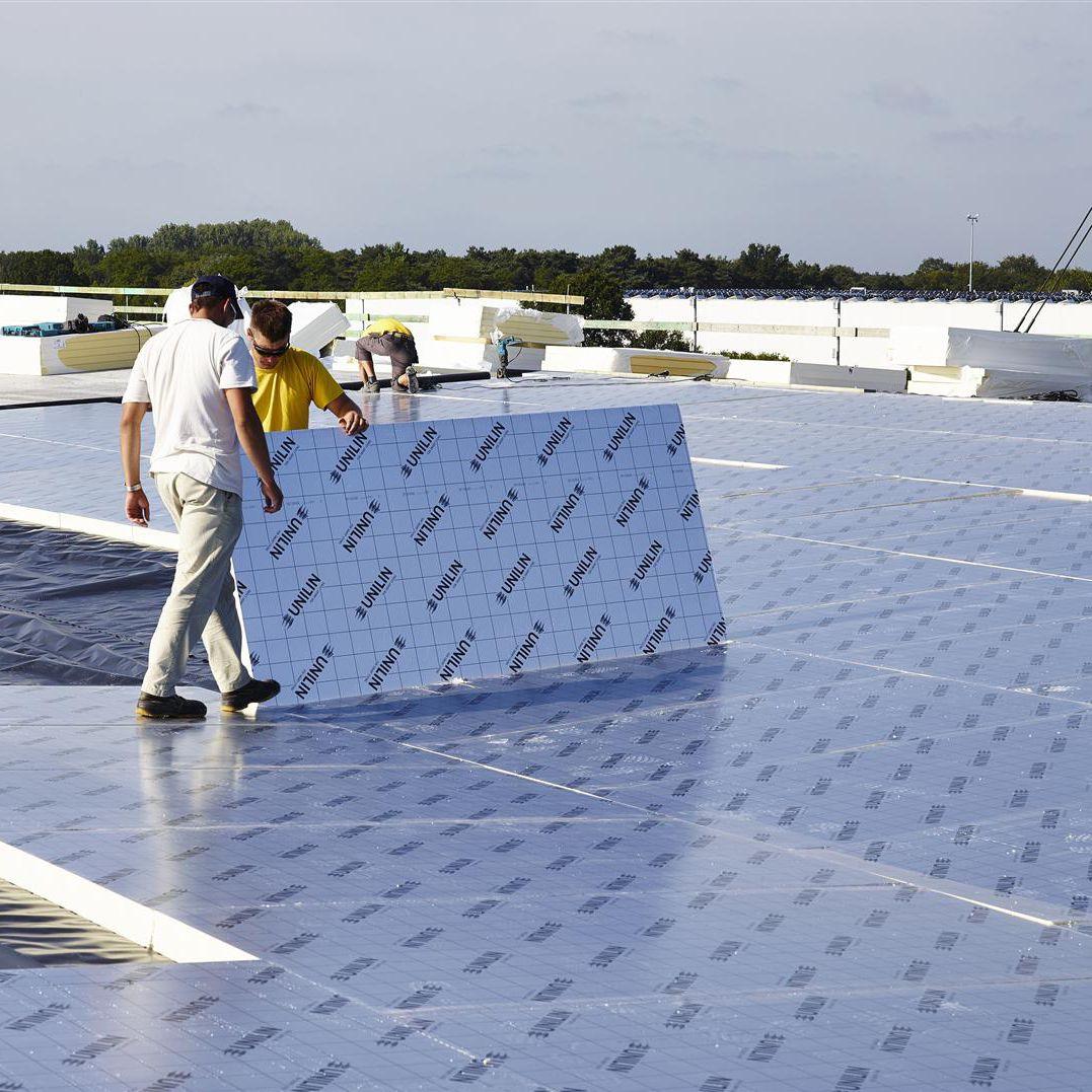 isolant thermique en mousse de polyurthane pour toiture terrasse en panneaux utherm roof