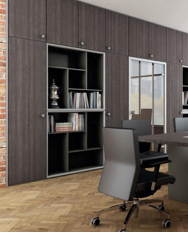 Mur de rangement pour bureau / en bois - K1-K2 - NEWFORM Ufficio