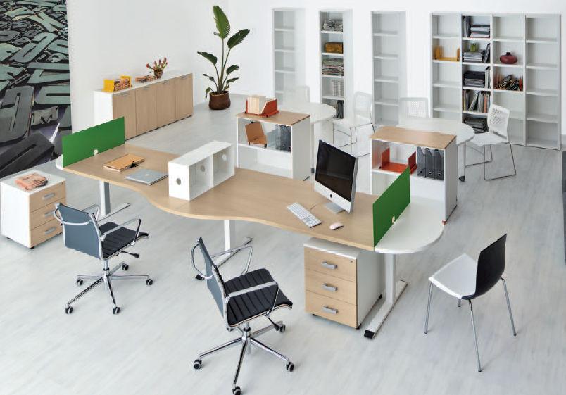 Bureau pour open space en bois contemporain professionnel
