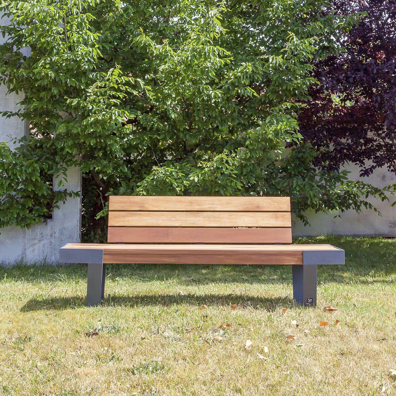 Banc de jardin / contemporain / en bois / en fer - WADE : 620 by ...