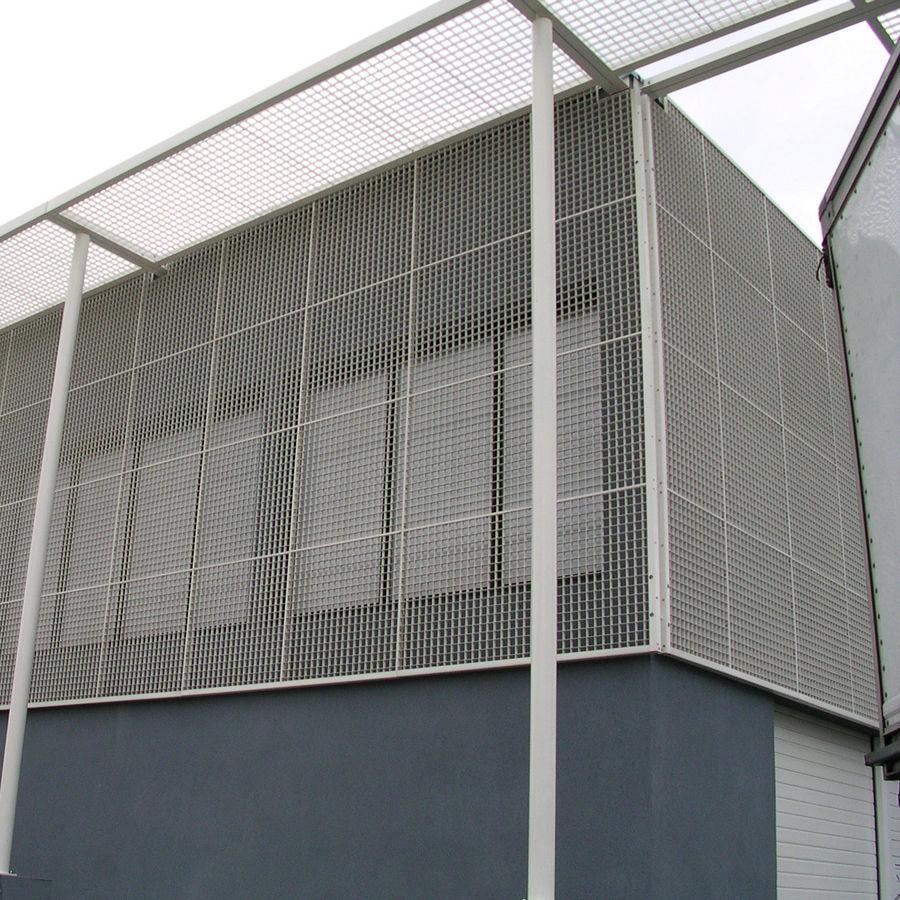 Escalier En Caillebotis Métallique dedans maille métallique pour façade / en aluminium / en acier inoxydable