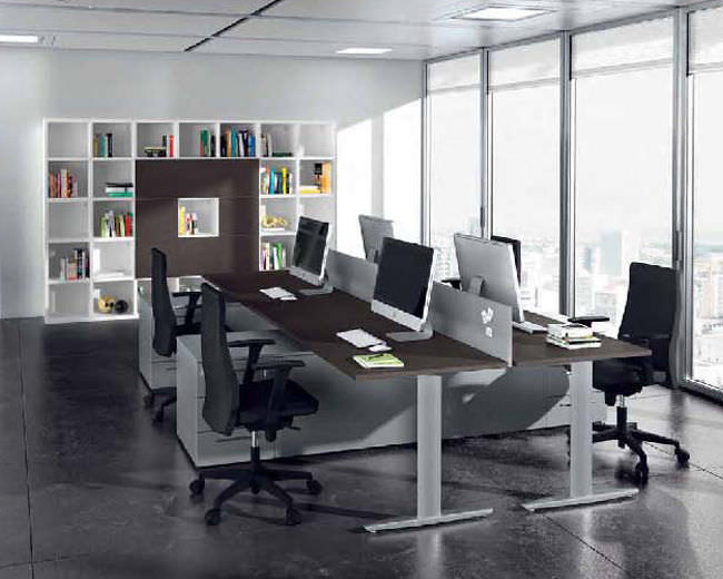 Fabuleux Bureau pour open space / en bois / en métal / contemporain - MUST  FI34