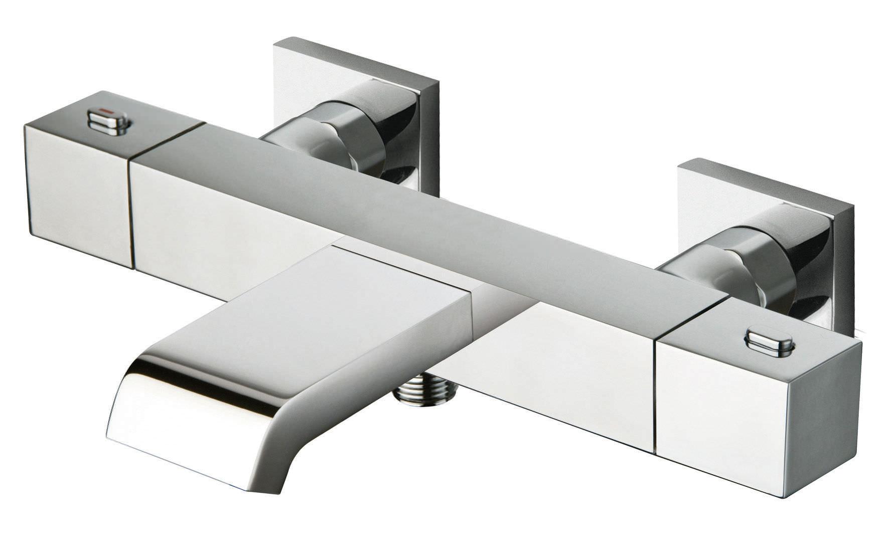 Mitigeur pour baignoire / en métal chromé / thermostatique / 1 ...