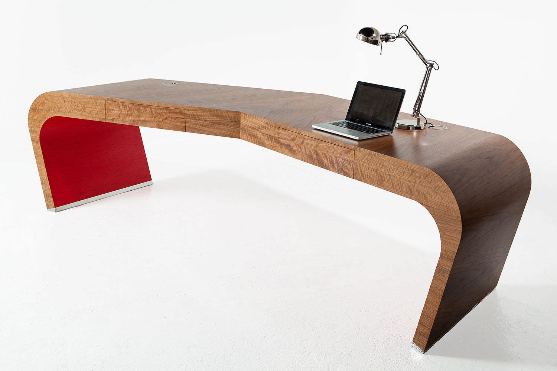 Bureau en bois design original professionnel wing splinter