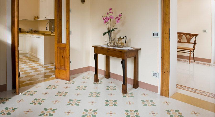 Carrelage de salon / de sol / en grains de marbre / 20x20 cm - MIMI ...