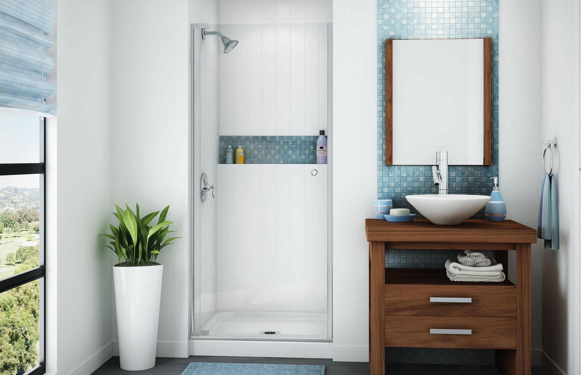 receveur de douche en fibre de verre