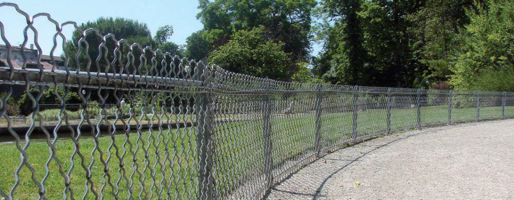 Clôture de jardin / grillagée / en métal - LIPPI