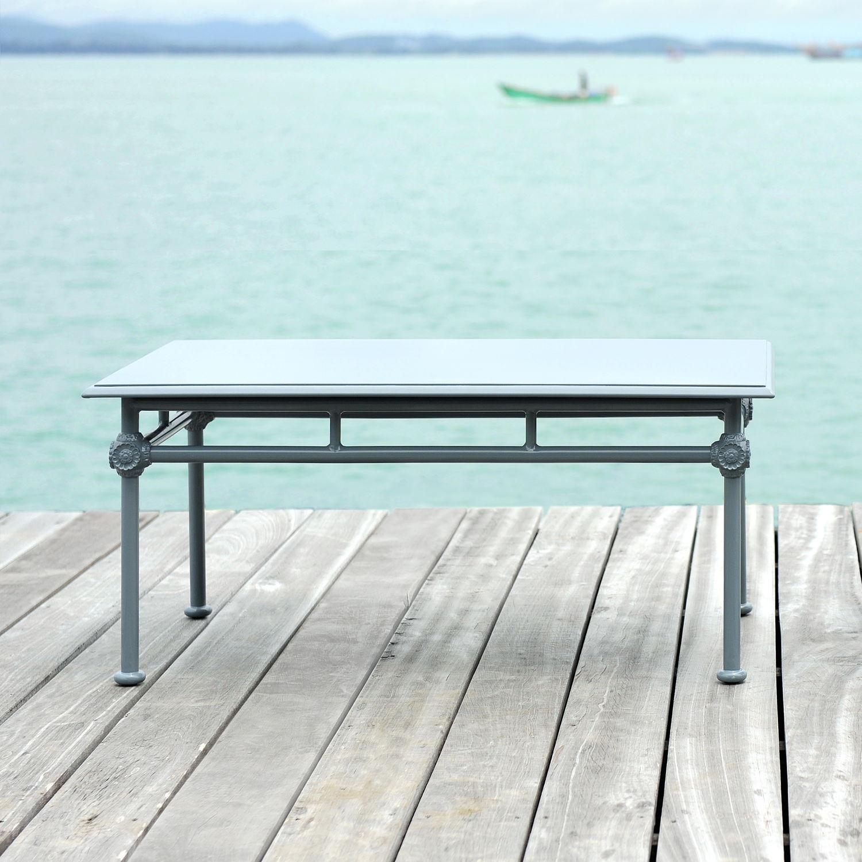 Table basse classique / en aluminium laqué / rectangulaire / de ...