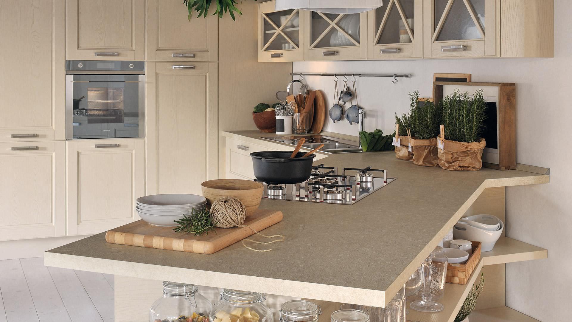 Cuisine classique / en bois massif - AGNESE - CUCINE LUBE