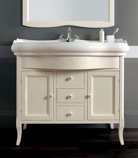Vasque à poser / en céramique / classique / avec miroir ajustable ...