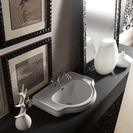 Vasque Encastrer En Cramique Classique Avec Miroir Ajustable