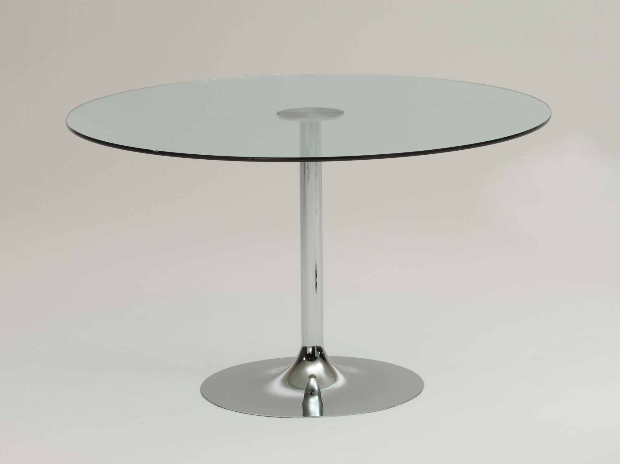 table contemporaine / en verre / ronde - tulip - protis