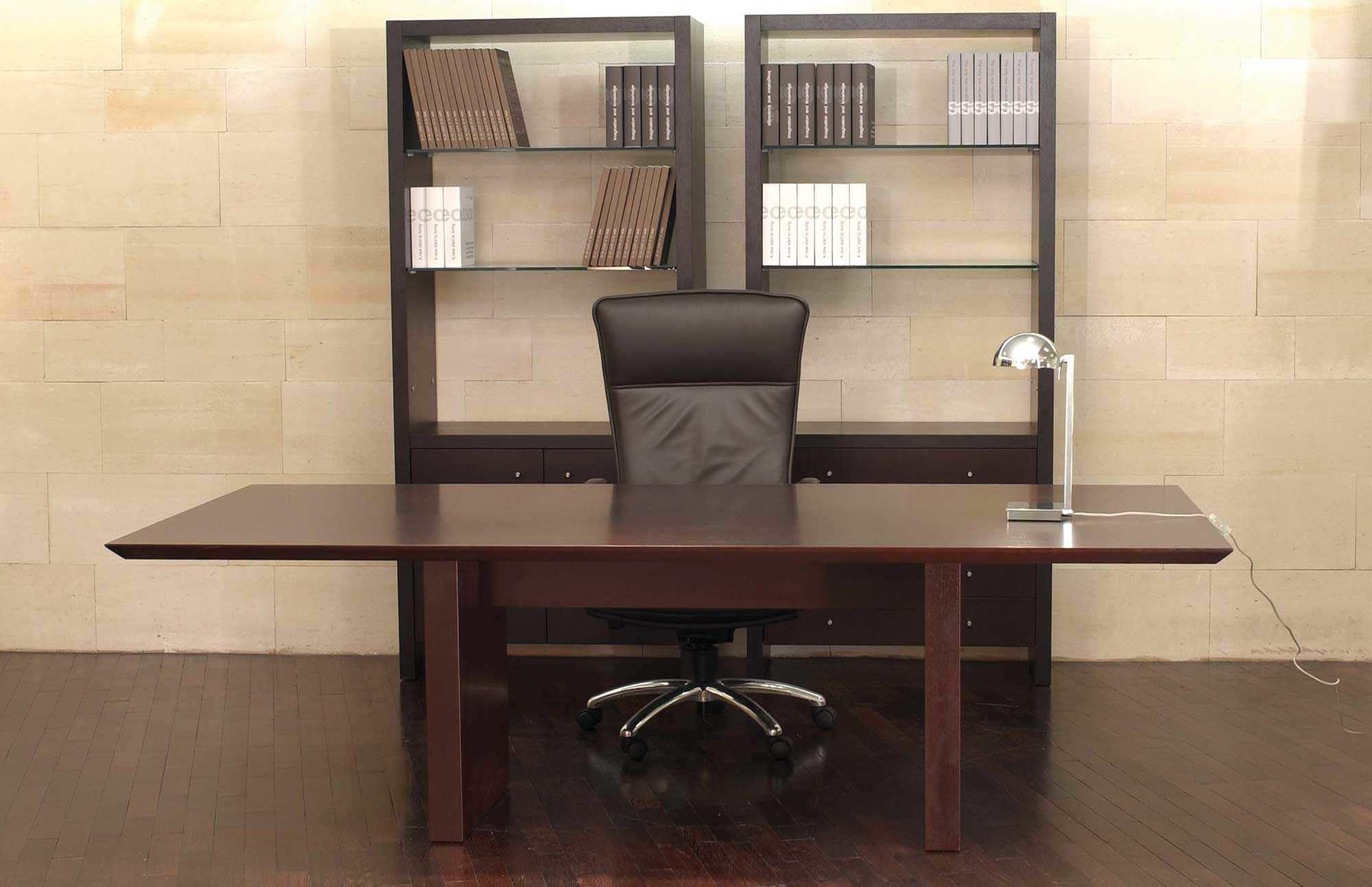 Bureau de direction en bois contemporain professionnel zen