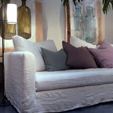 canap lit contemporain en tissu 2 places - Caravane Canape