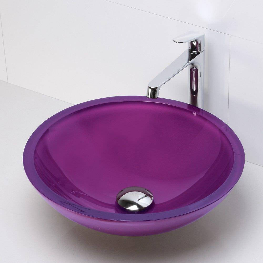 vasque salle de bain violet