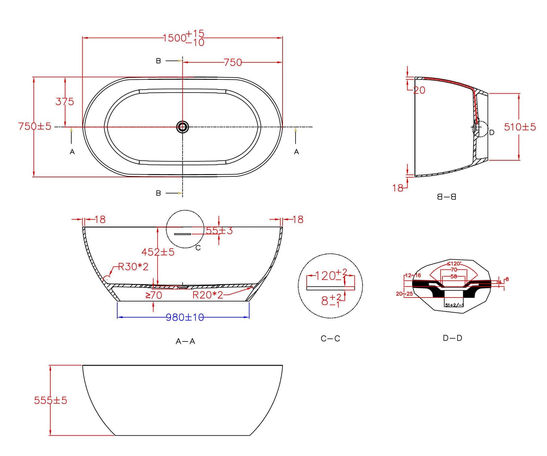 Salle De Bain Ottofond ~ baignoire poser ovale en solid surface royale ottofond