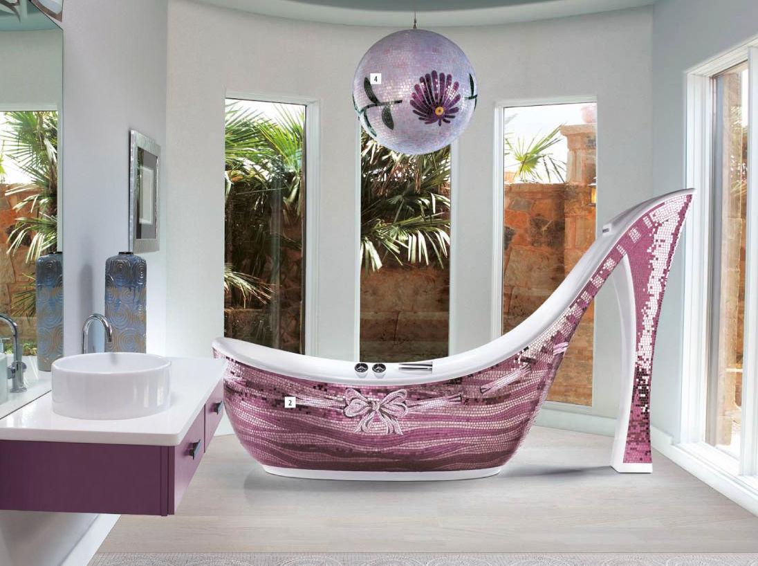 Habillage de baignoire en verre / en carrelage mosaïque - AUDREY ...