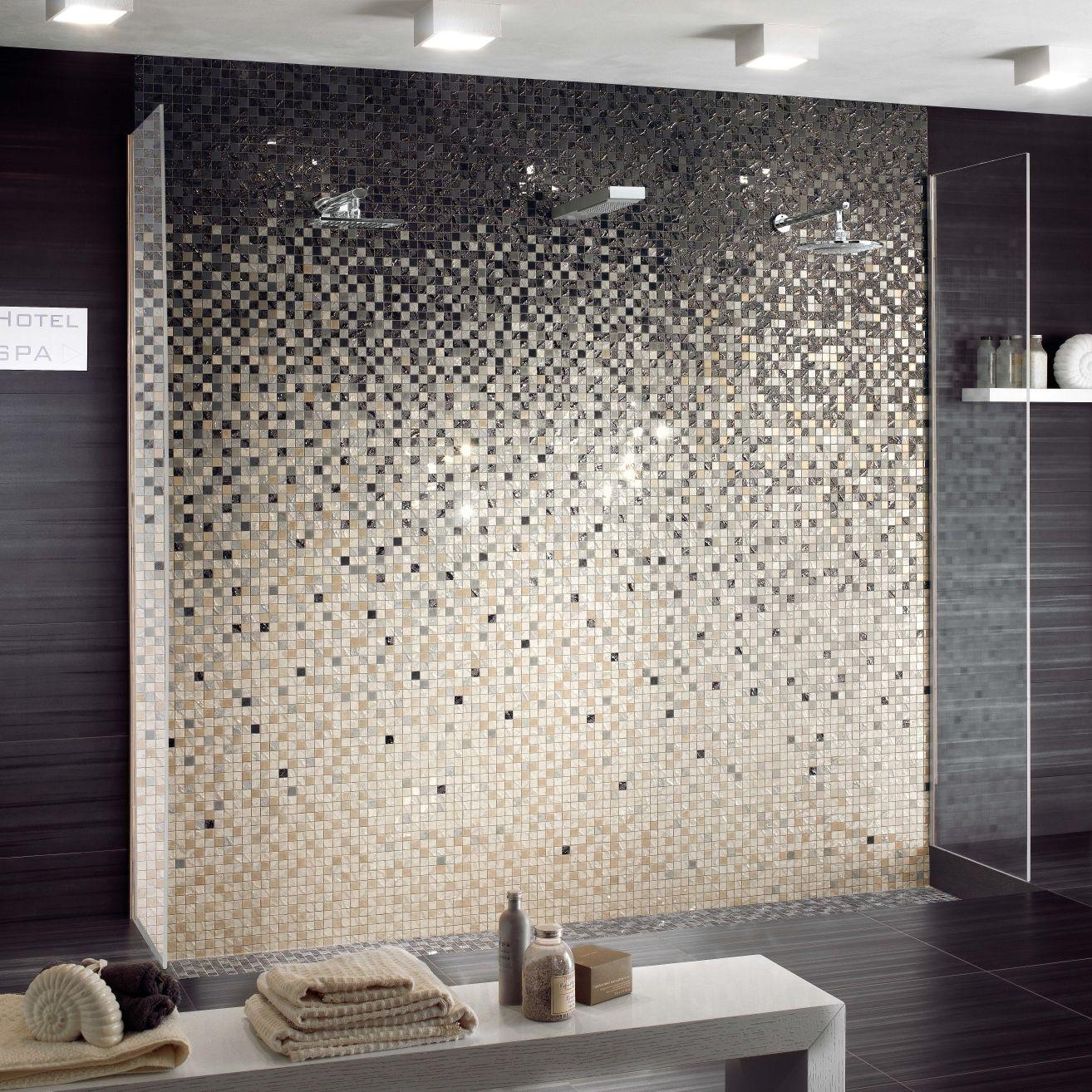 Mosaïque d'intérieur / de salle de bain / murale / en grès cérame ...