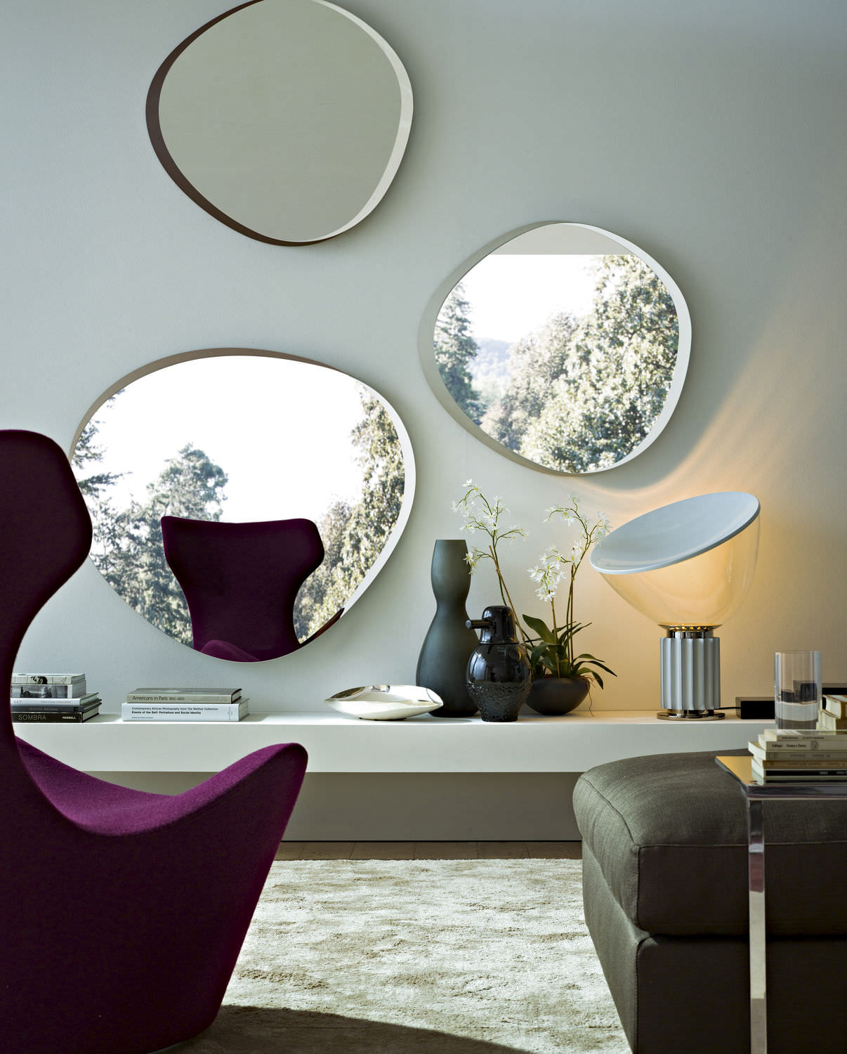 Miroir mural / contemporain / de salon / en bois - ZEISS ...