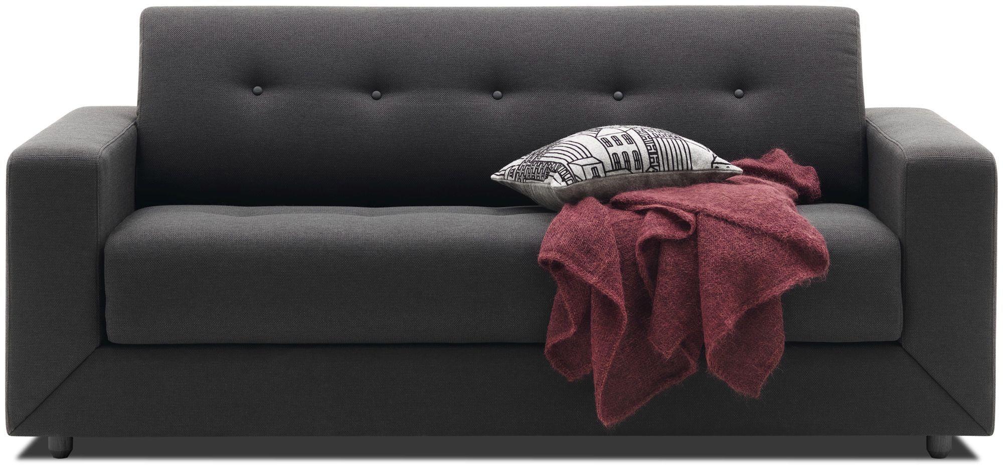 canap lit contemporain en cuir en tissu
