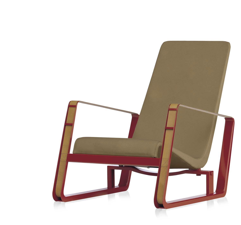 fauteuil contemporain / en cuir / luge / par jean prouvé - citÉ ... - Chaise Jean Prouve Prix
