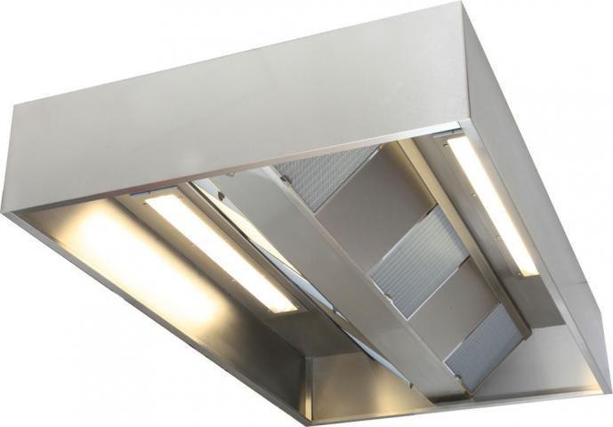 hotte de cuisine îlot / avec éclairage intégré / à usage ... - Eclairage Cuisine Professionnelle