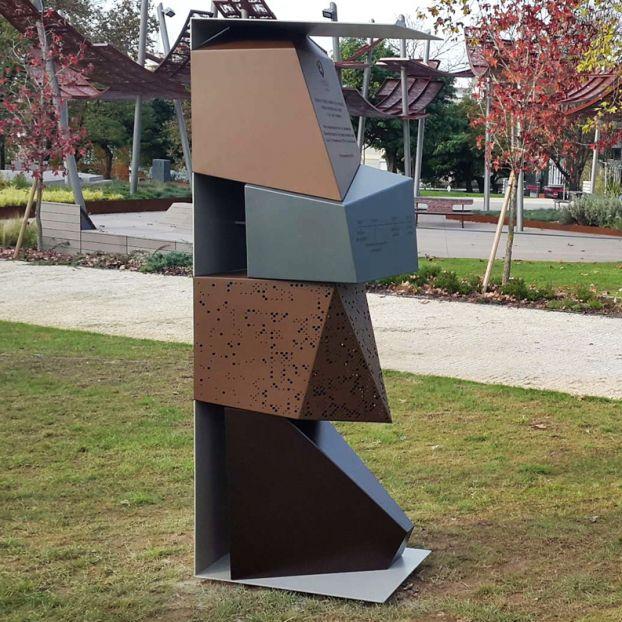 Sculpture en métal / en acier corten / pour espace public / pour ...