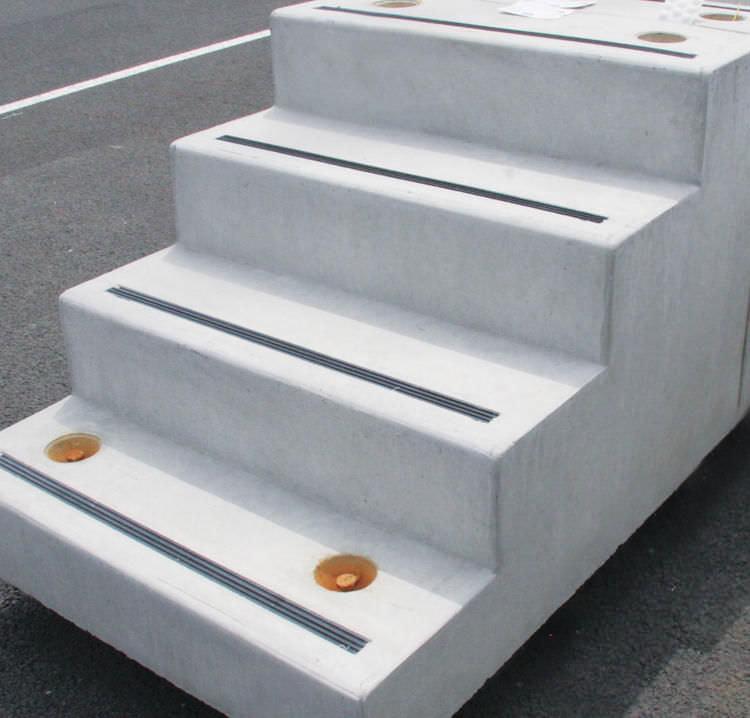 Escalier Droit Structure En Beton Marche En Beton Avec