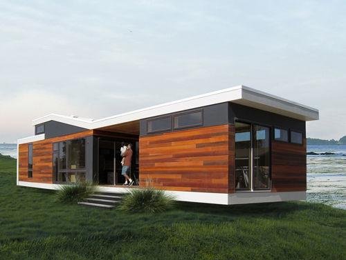 Bien connu Micro-maison préfabriquée / contemporaine / en bois / de plain  HO58