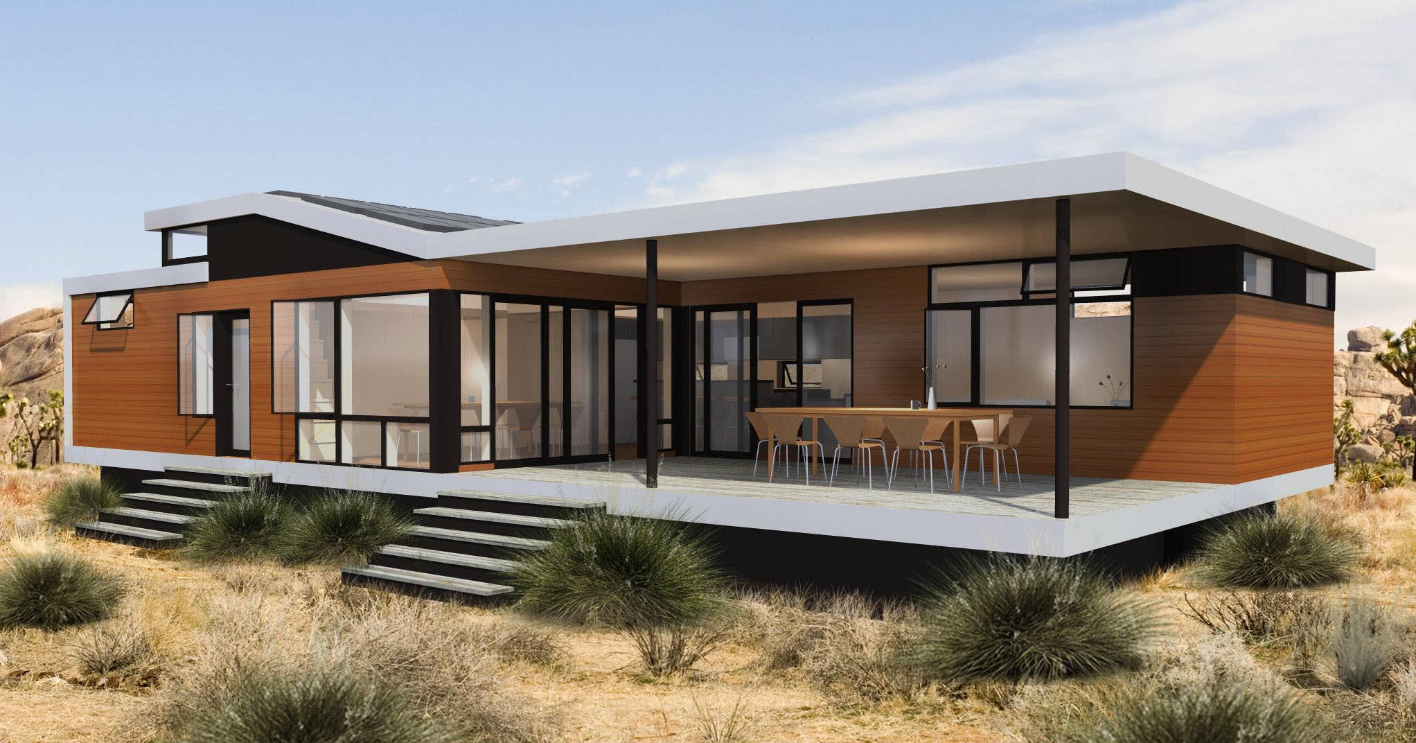 Très Micro-maison préfabriquée / contemporaine / en bois / de plain  KB91