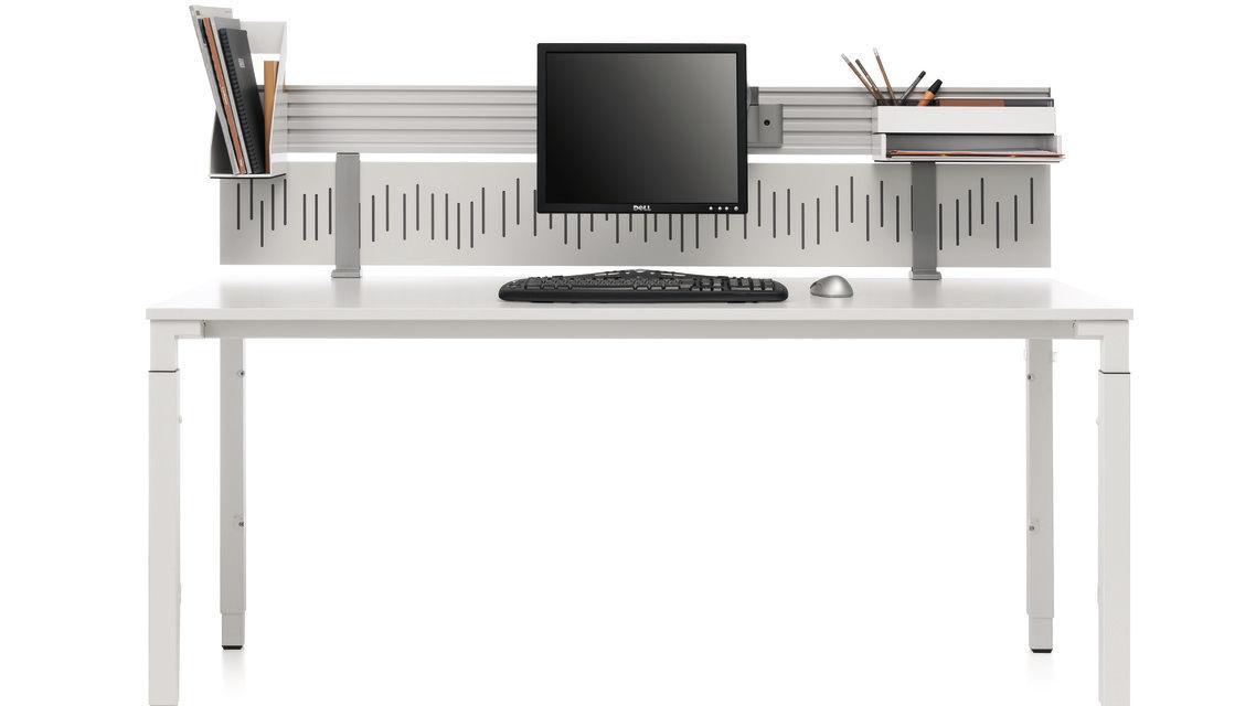 s parateur de bureau sur plan en acier partito rail. Black Bedroom Furniture Sets. Home Design Ideas