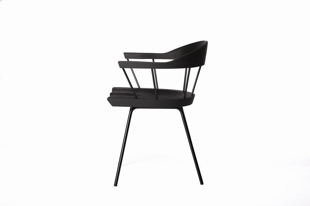 Chaise Design Scandinave Ergonomique Avec Coussin Amovible En Metal