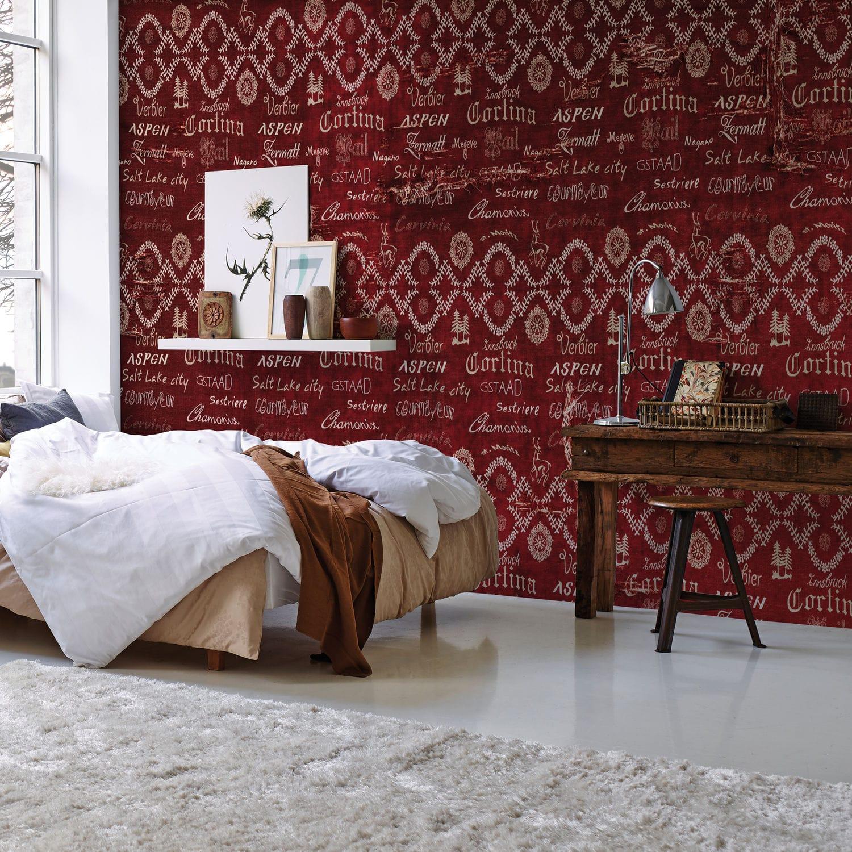 Papier Peint Traditionnel En Textile Non Tissé En Fibre De Verre