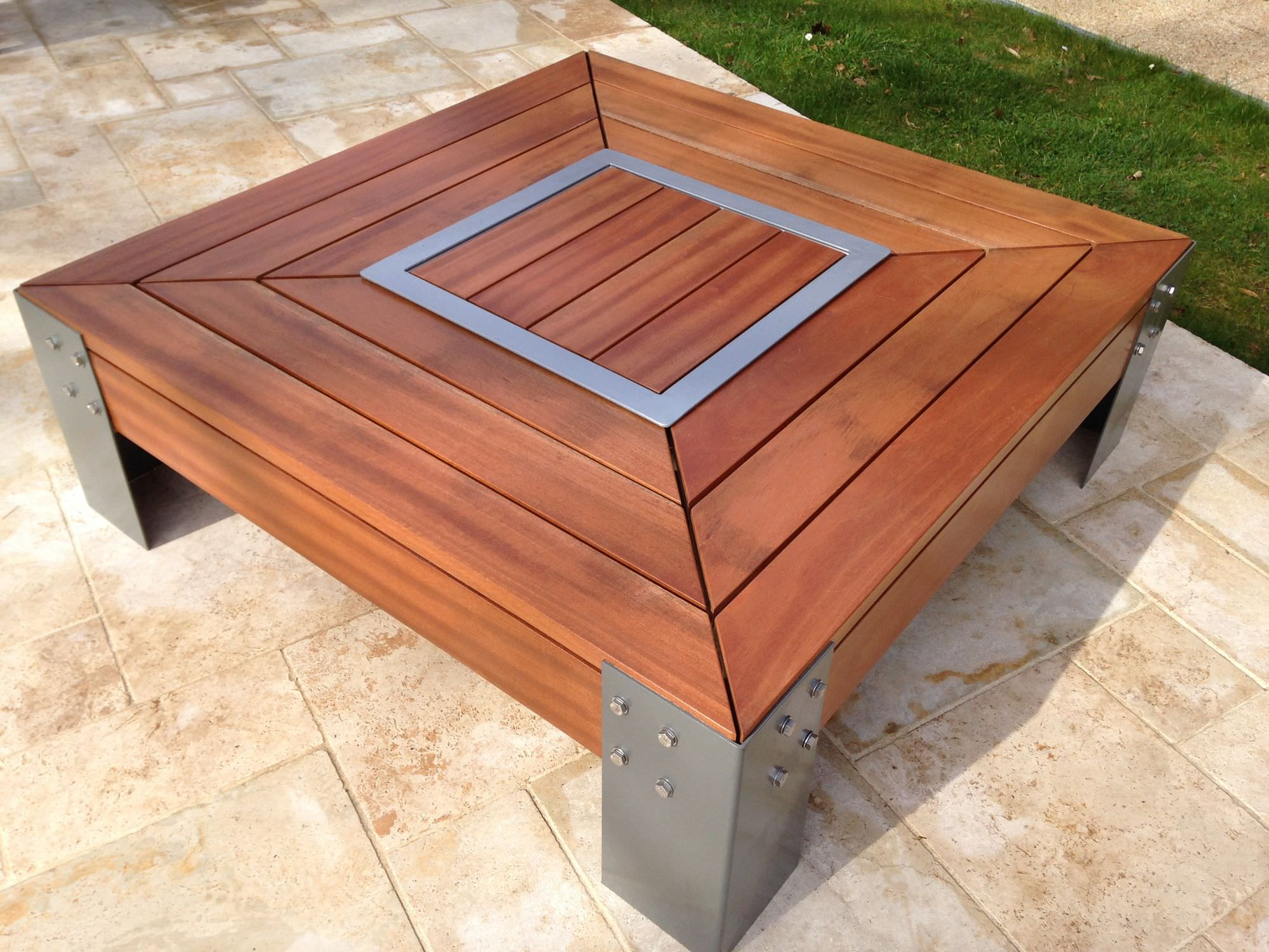 Brasero de jardin à bois / en bois / en acier galvanisé - KRONOS/KUB