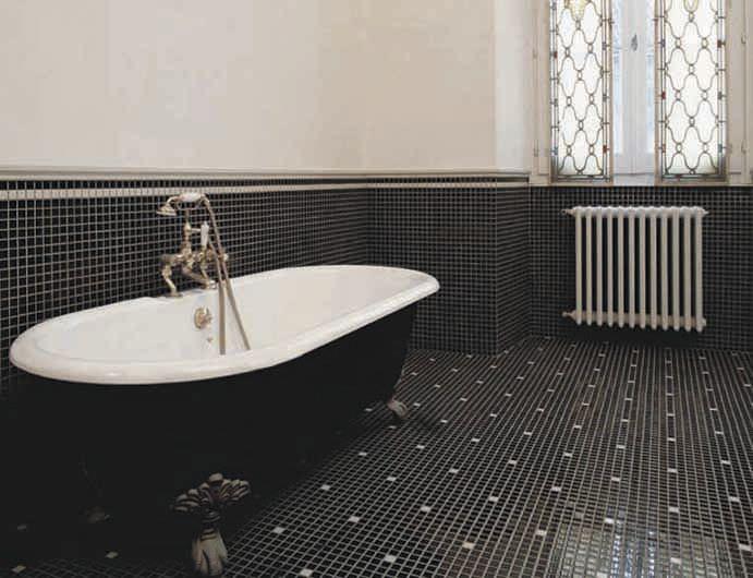 mosaque dintrieur de salle de bain au sol en cramique appiani mix