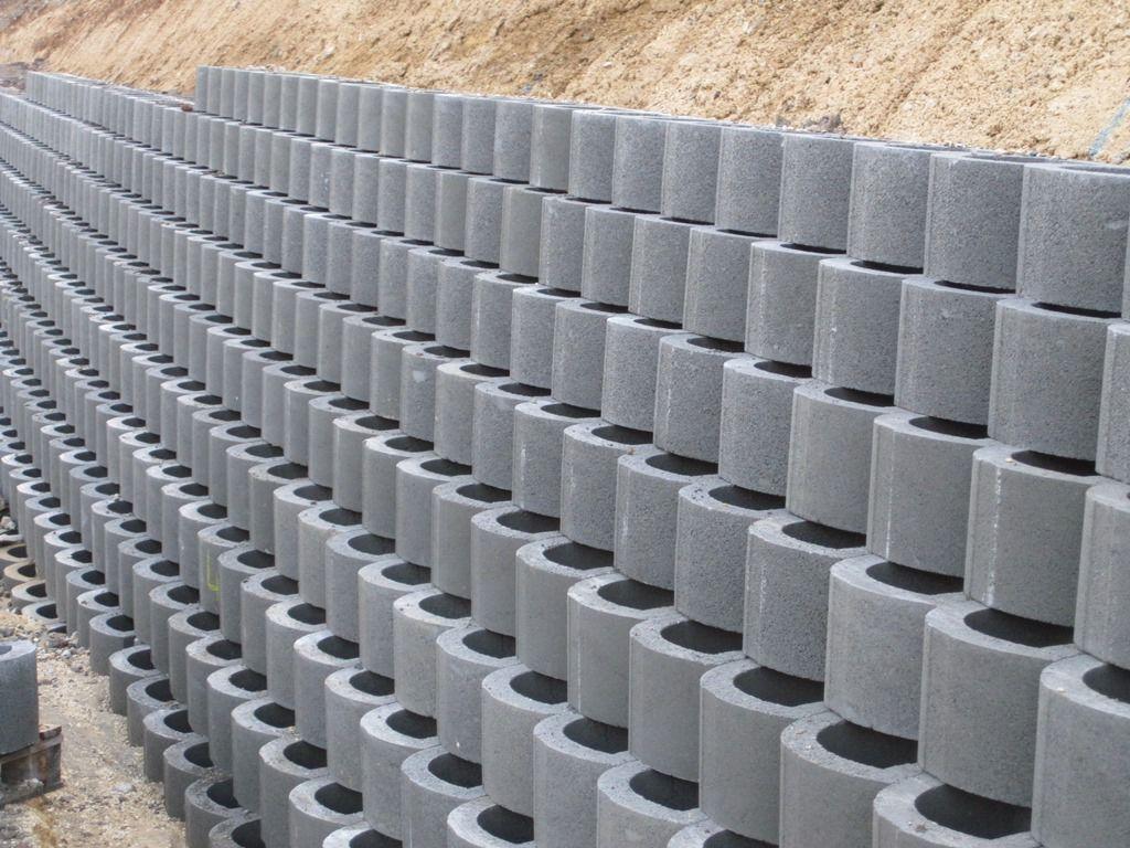 Bloc beton soutenement