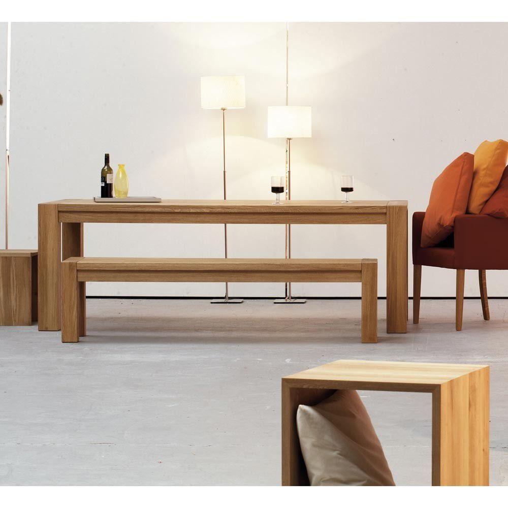 6bf36f8bddfcc4 table contemporaine   en chêne   rectangulaire - VALENTINO by Jan Kurtz