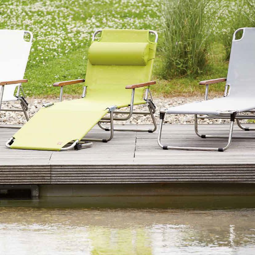 Bain de soleil contemporain / en tissu / en aluminium / de jardin ...