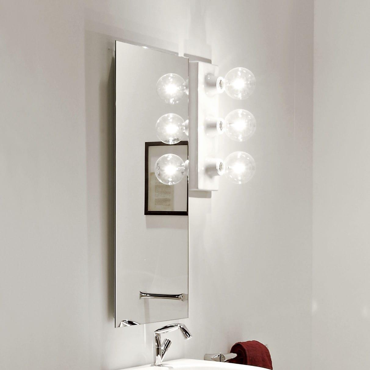 Salle De Bain Sol Effet Parquet ~ Miroir De Salle De Bain Mural Lumineux Contemporain