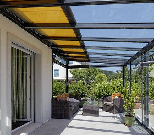 auvent pour terrasse en verre en aluminium td 1