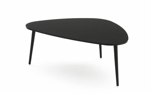 table basse contemporaine en noyer en mdf en mtal