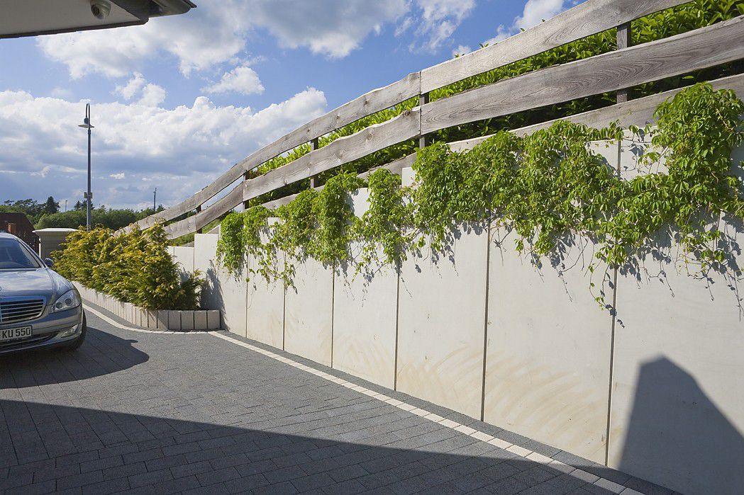 Mur De Soutnement En Bton  Modulaire  Pour Clture De Jardin