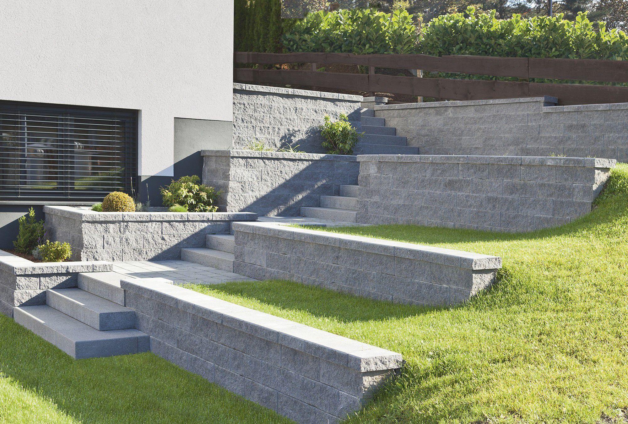 Charmant ... Mur De Soutènement En Pierre / Modulaire / Pour Clôture De Jardin