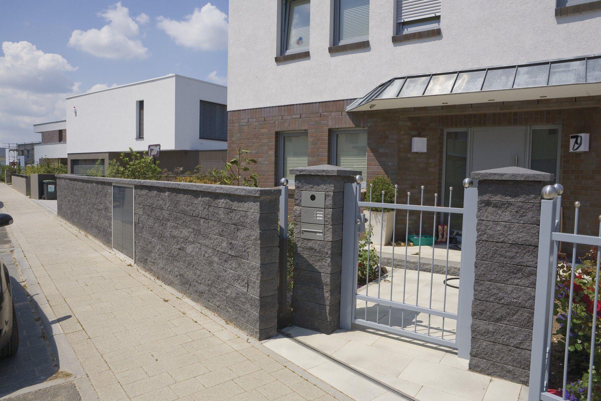 Mur Cloture Pierre mur de soutènement en pierre / modulaire / pour clôture de jardin