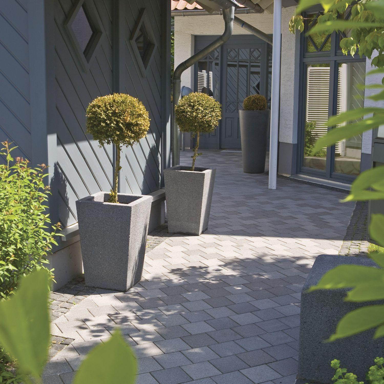 jardinire en pierre carre contemporaine vinci - Jardiniere Exterieure Contemporaine