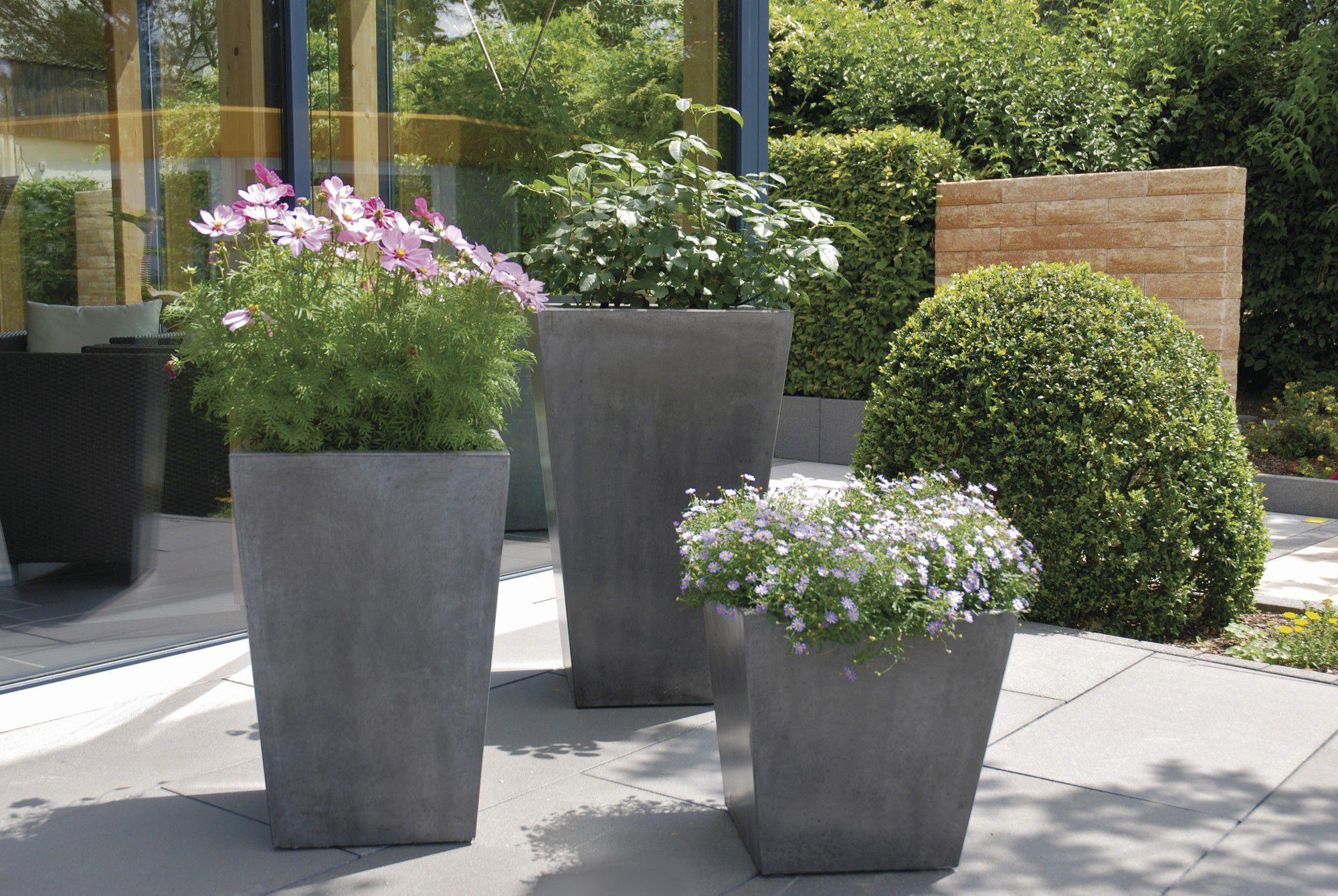 jardinire en pierre carre contemporaine vinci rinn beton und naturstein stadtroda - Jardiniere Exterieure Contemporaine
